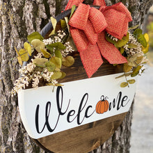 Load image into Gallery viewer, Welcome Pumpkin Wood Sign