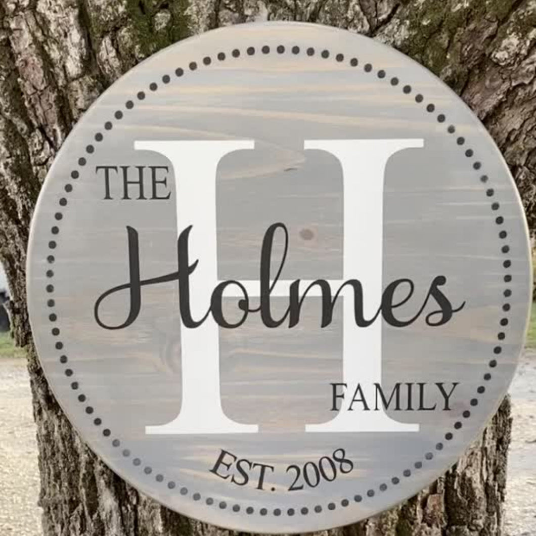 Beautiful hand-painted custom family established  sign to showcase in your home. These signs also make the perfect gift for weddings, showers, anniversaries, housewarming, and Christmas.