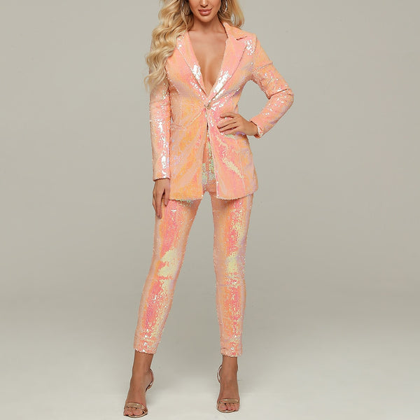 Sequined Pant Suit