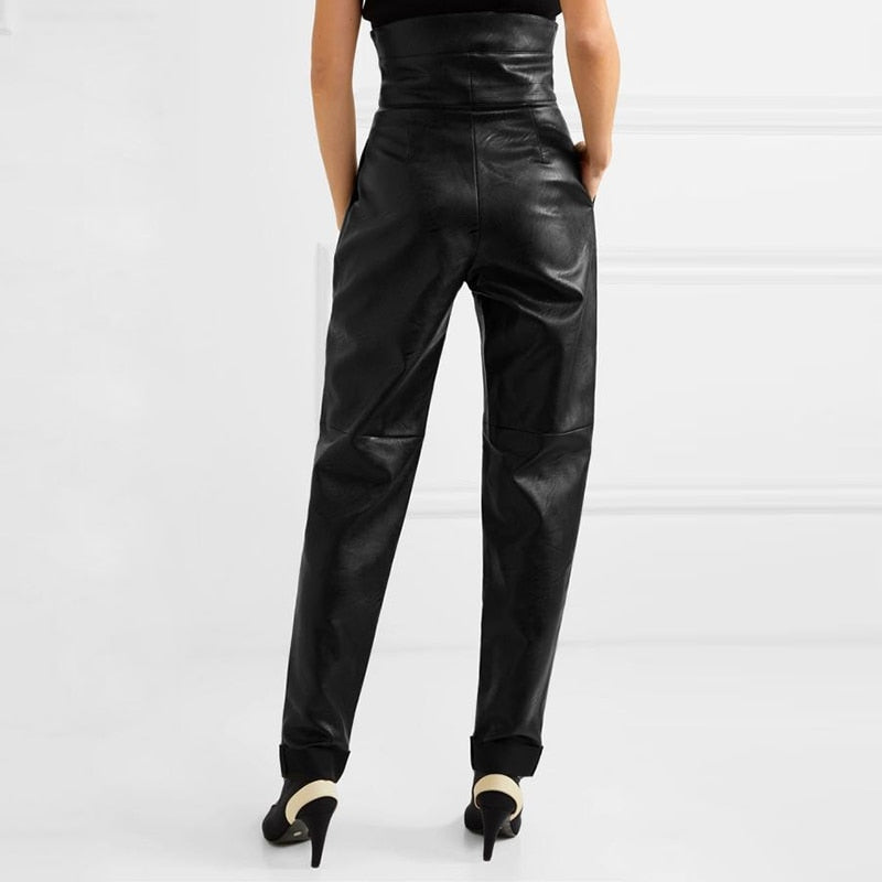 Faux Leather High Rise Pant