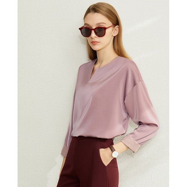 V-Neck Satin Top