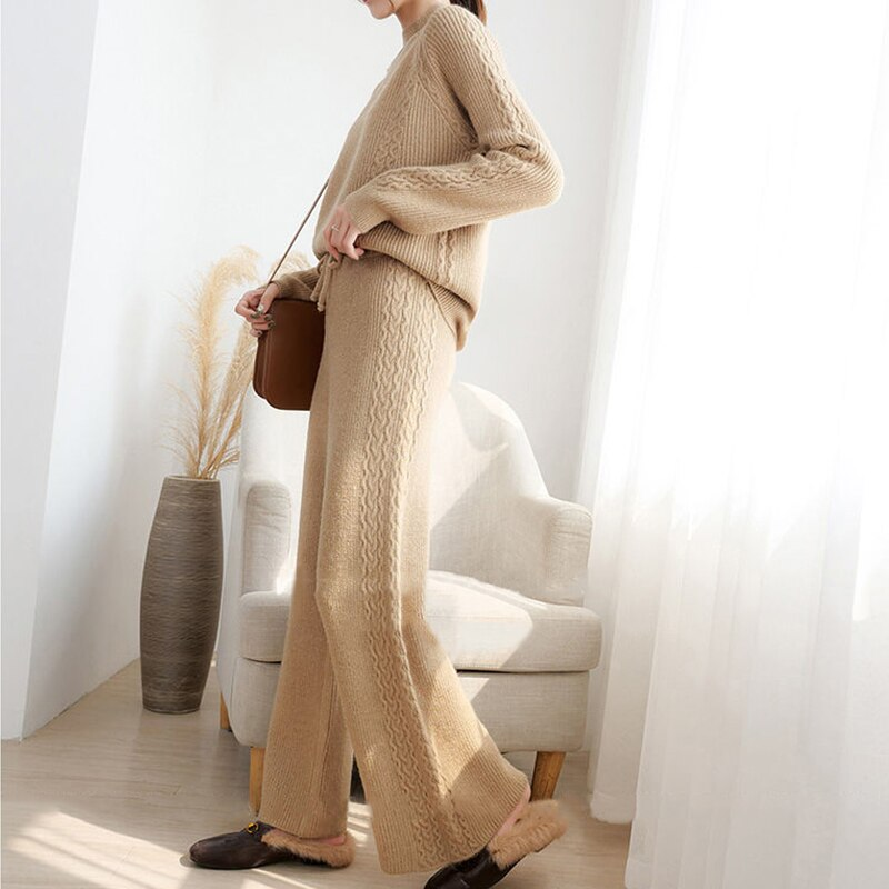 Knitted Loose Sweater Set