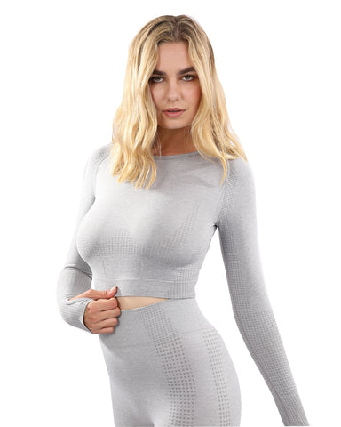 Fratessa Seamless Sports Top - Grey