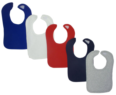 Grey Baby Bibs (Pack of 5)