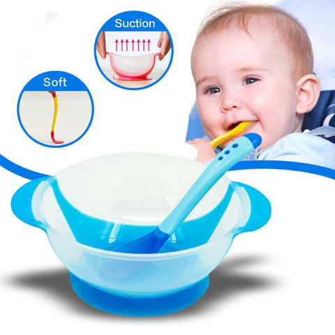 2Pcs/set Baby Learning Dishes With Suction Cup
