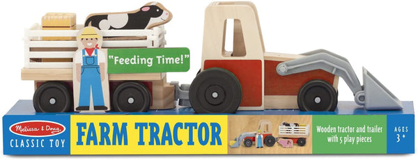 Farm Tractor Wood Play Set