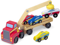 Magnetic Car Loader Wooden Toy Set