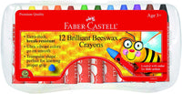 Faber-Castell Beeswax Crayons in Durable Storage Case