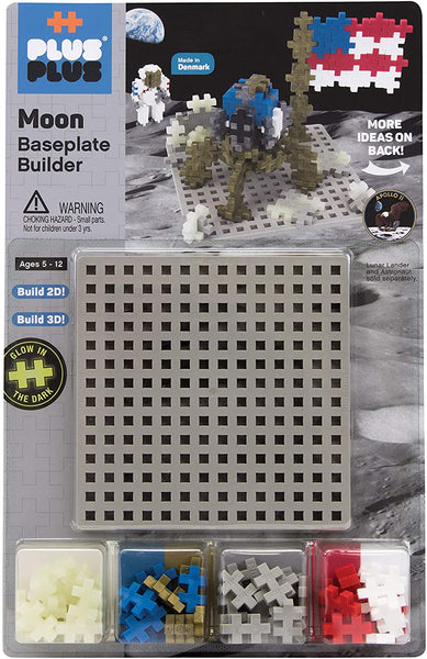 PLUS PLUS Baseplate Builder - Moon, Apollo 11 Base