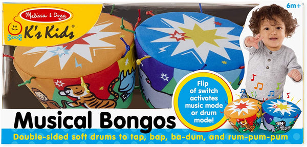 K's Kids Bongo Drums Soft Musical Instrument