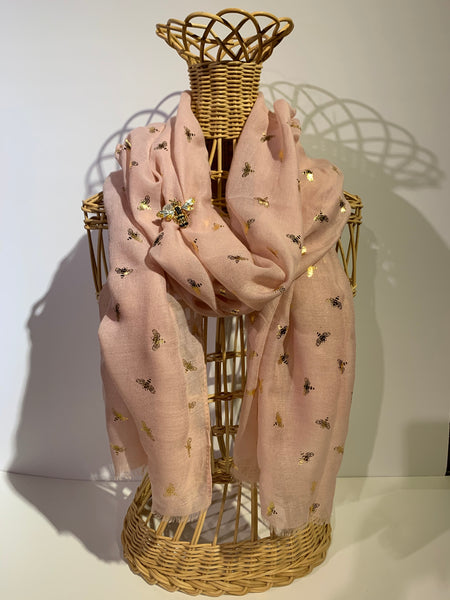 Bee Pattern Scarf - 3 Colors