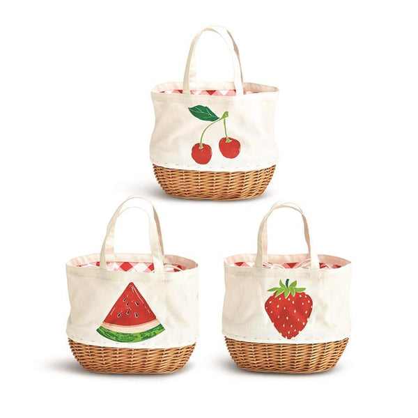 Fresh Picked Fruit Basket Tote - 3 Styles