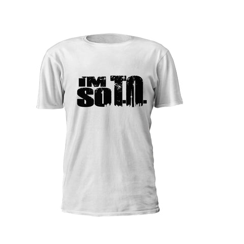 "exclusive ""I'M SO T.O."" Short-Sleeve Round Neck Cotton T-Shirt (Inventory Clear Out)"
