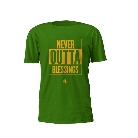 "Exclusive ""NEVER OUTTA BLESSINGS"" Cotton T-Shirt (Inventory Clear Out)"