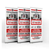 "Retractable / Pull-Up Banner Set (33"" x 80"")"