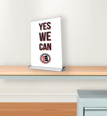 "Table-Top Pull-Up Banner (8.5"" x 14"")"