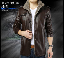 Load image into Gallery viewer, Mens Leather Jackets  Plus Size 8XL