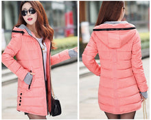 Load image into Gallery viewer, Parka Winter plus size candy color cotton  jacket for Female