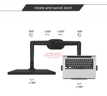 "Load image into Gallery viewer, Aluminum multifunction 10""-17""Ergonomics desk laptop"