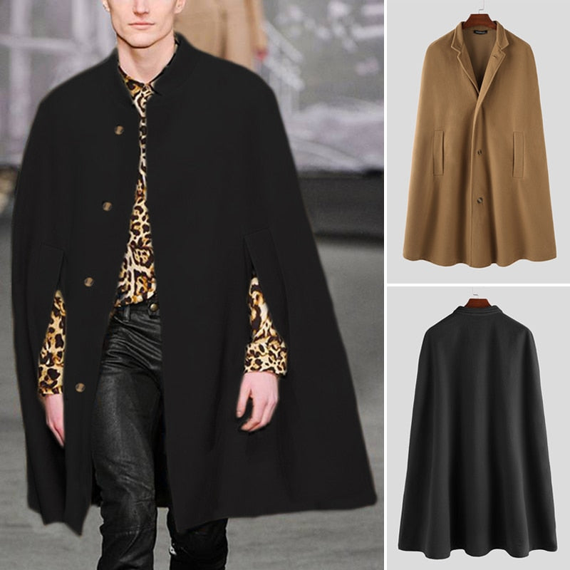 Winter Fashion Men Cloak Coats
