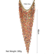 Load image into Gallery viewer, Womens Jewelry Resin Bead Handmade Chain Choker Necklace