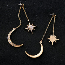 Load image into Gallery viewer, Shiny Crystal Star Moon Earrings  for Women