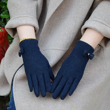 Load image into Gallery viewer, Fashion Elegant Female Wool Touch Screen Gloves Winter Women Warm Cashmere Full Finger Leather Gloves A29