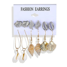 Load image into Gallery viewer, Golden Alloy Earrings Set for Women & Girls