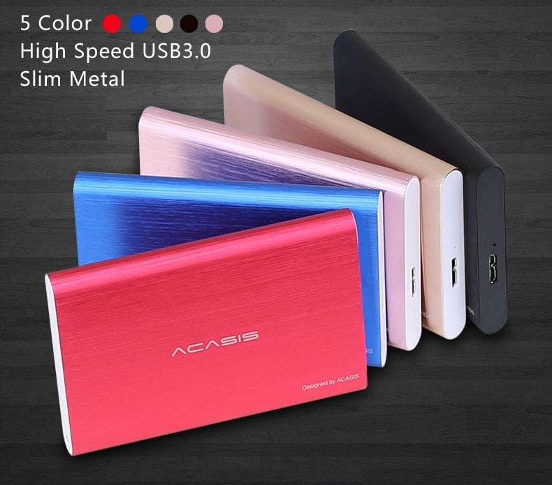 External Hard Drive USB 3.0 Colorful Metal HDD Portable External HD Hard Disk