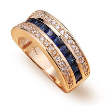 Load image into Gallery viewer, Ring for women 18k Gold Bague or Jaune Bizuteria for Jewelry Anillos Men Gemstone anel jewelry Gold Ring