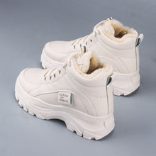 Load image into Gallery viewer, Women's casual sneakers; winter sneakers with plush fur; warm women's shoes