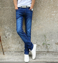 Load image into Gallery viewer, 7 Color Men Stretch Skinny Jeans