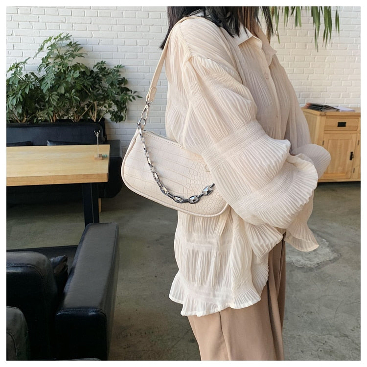 MINI PU Leather Shoulder Bags For Women 2020 Chain Design Luxury Hand Bag Female Travel