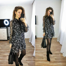 Load image into Gallery viewer, Women  Long Sleeve Casual Loose  Party Dress