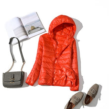 Load image into Gallery viewer, White Duck Down Jacket Women Autumn Winter Warm