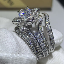 Load image into Gallery viewer, New 2020 Luxury Jewelry 925 Sterling Silver Round Cut 5A CZ Diamond Women Wedding Band Ring For Lovers' Gift