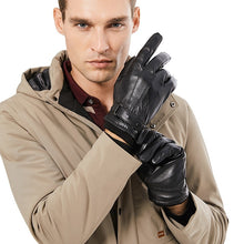 Load image into Gallery viewer, Men Genuine Sheepskin Leather Gloves
