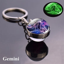 Load image into Gallery viewer, Luminous Keychain Glass Ball  Key Chain Holder for Men & Women