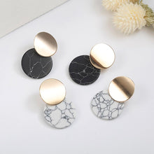 Load image into Gallery viewer, Black White Stone  Earrings