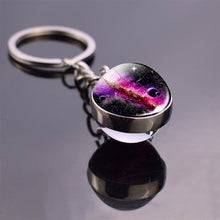 Load image into Gallery viewer, Double Side Glass Ball Key Chain