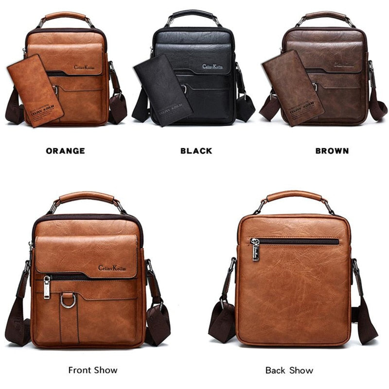 Mens Leather Shoulder Bag