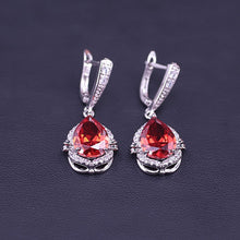 Load image into Gallery viewer, Jewelry Set Big Water Drop Square Bridal Jewelry Set