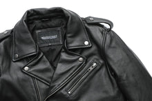 Load image into Gallery viewer, Classical Motorcycle Jackets Men Leather Jacket 100% Natural Calf Skin Winter