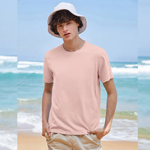 Load image into Gallery viewer, Cotton T shirts men 2020 simple o neck stretch solid new tops clothing