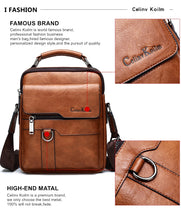 Load image into Gallery viewer, Mens Leather Shoulder Bag