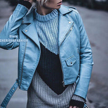 Load image into Gallery viewer, Winter Autumn Motorcycle leather jackets for Women