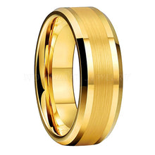 Load image into Gallery viewer, Mens & Womens Gold Tungsten Carbide Wedding Band Rings
