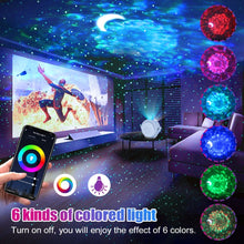 Load image into Gallery viewer, Star Night Light Projection 6 Colors Ocean Waving