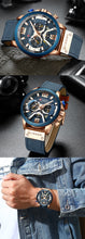 Load image into Gallery viewer, CURREN Watches for Men Blue Top Brand Luxury Military Leather Wrist