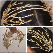 Load image into Gallery viewer, double Hairband Women Bridal Wedding Tiara Hair Accessories Crown Hairwear Jewelry